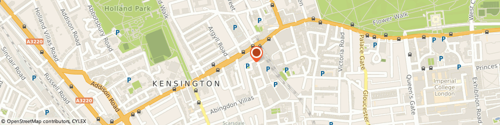 Route/map/directions to The Massage Rooms, W8 6TY London, Iverna Court