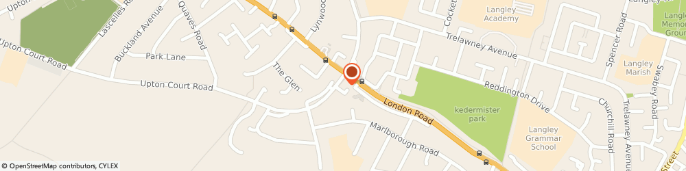 Route/map/directions to Little Angells Dance, SL3 7LN Slough, London Rd