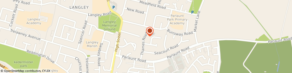 Route/map/directions to BeautyByRaman, SL3 8DZ Slough, 30 Thames Rd