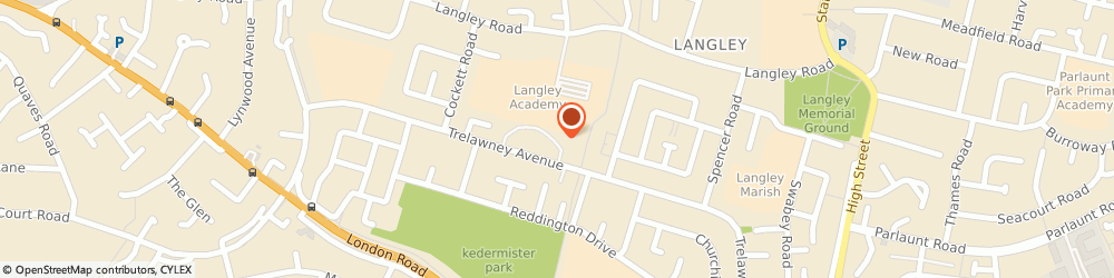 Route/map/directions to Dragon's Chinese, SL37UD Slough, 250 Trelawney Ave