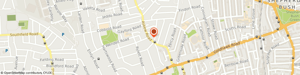Route/map/directions to J W Beeton, W12 9AU London, 141 Askew Rd