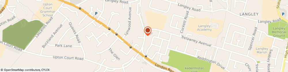 Route/map/directions to Myfone Accessories Limited, SL3 7RY Slough, 58 BLANDFORD ROAD SOUTH