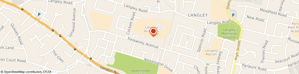 Route/map/directions to Holy Family Parish Club, SL3 7UD Slough, 226 TRELAWNEY AVENUE