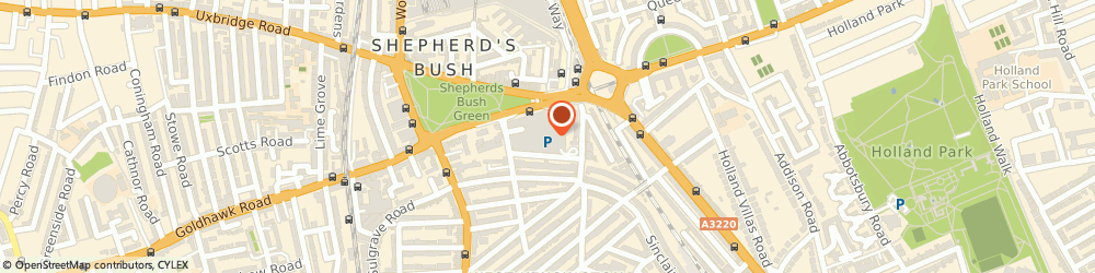 Route/map/directions to Mail Boxes Etc, W12 8PP London, Management Office, Shepherds Bush