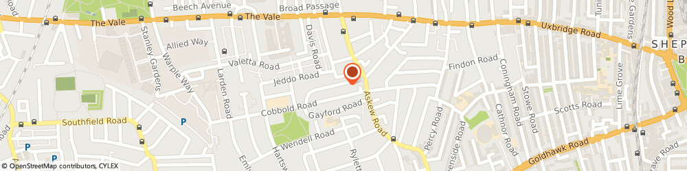 Route/map/directions to Face-FX, W12 9HH London, 99, BECKLOW ROAD