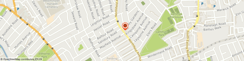 Route/map/directions to P C Solutions, W13 9RR London, 52 NORTHFIELD AVENUE