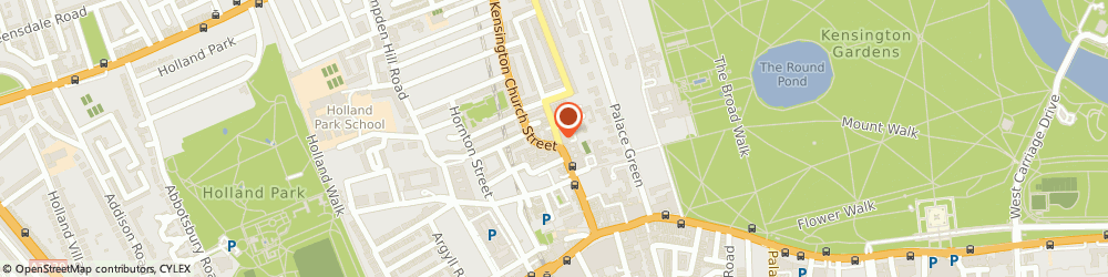 Route/map/directions to Randa By Maroush, W8 4LF London, 23 Kensington Church Street
