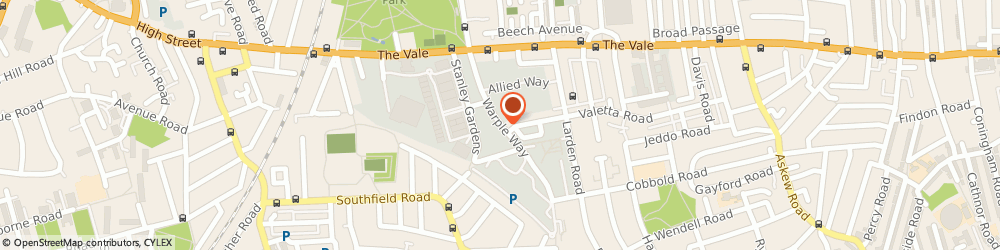 Route/map/directions to YogaAt, W3 0RG London, Warple Way