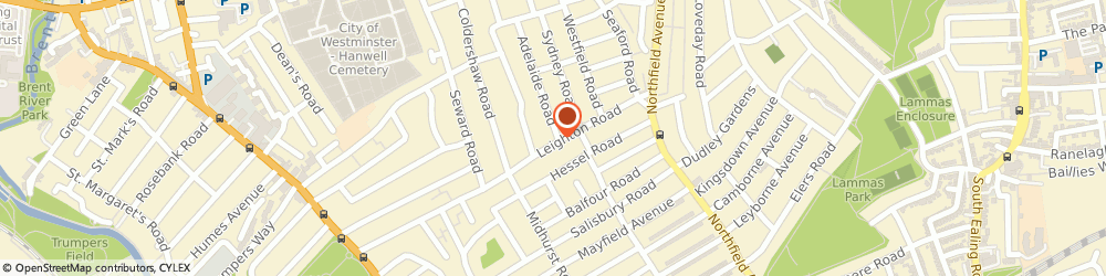 Route/map/directions to PW ACCOUNTS AND TAX LTD, W13 9DS London, 48A Leighton Road