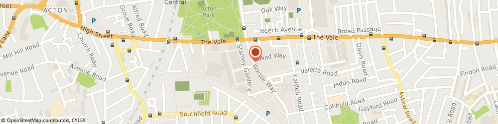 Route/map/directions to Nick Schlesinger, W3 7SZ London, 54-58 Stanley Gardens