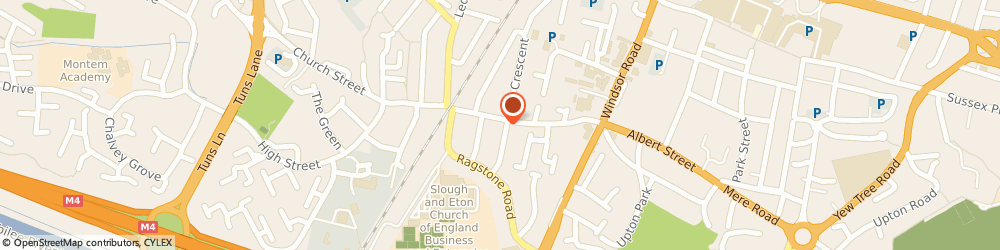 Route/map/directions to Lazzat Catering, SL1 2LU Slough, 30 Chalvey Road East