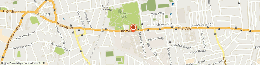 Route/map/directions to Go Chauffeur, W3 7QS London, 203-205 The Vale
