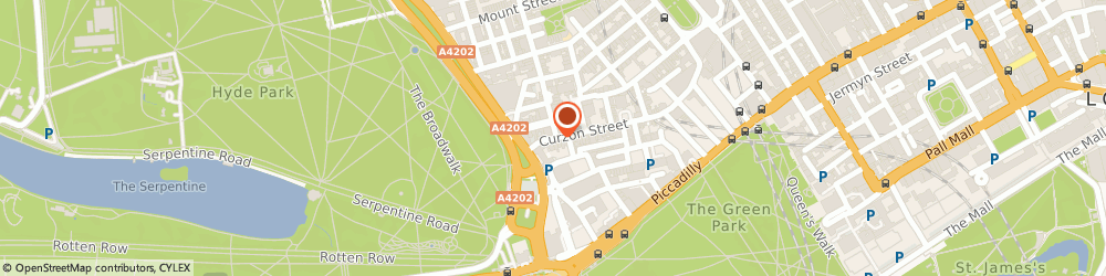 Route/map/directions to Roose and Partners Advertising Limited, W1J 5HN London, 14 CURZON STREET