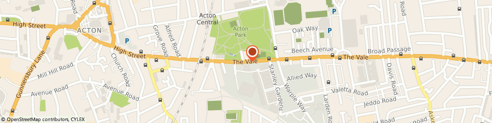 Route/map/directions to Wedding cars London, W3 7QS London, 203-205 THE VALE ACTON
