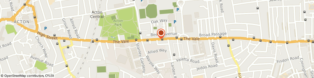 Route/map/directions to My London Chauffeurs, W3 7QS London, 203-205 THE VALE