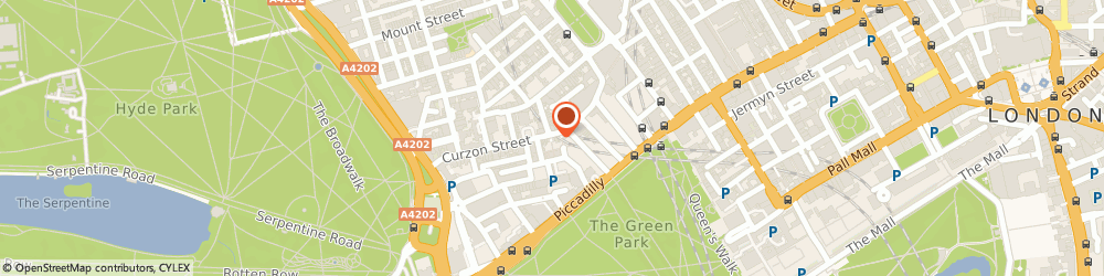 Route/map/directions to St. Charles, W1J 7UD London, 42 Curzon Street