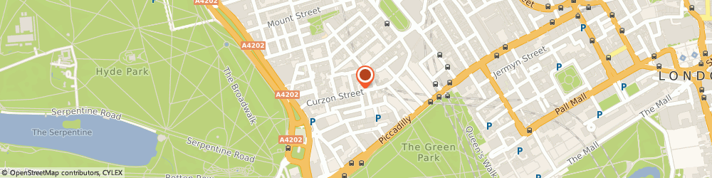 Route/map/directions to The Living Room London, W1J 5HP London, 16 Curzon St