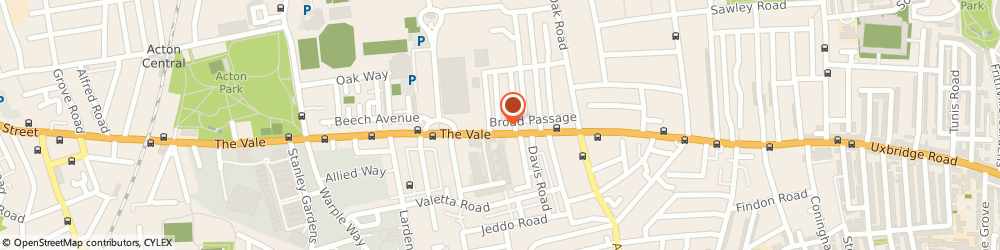 Route/map/directions to Newman Hire, W3 7SB London, 16 The Vale