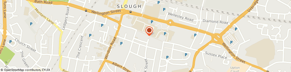 Route/map/directions to WHSmith, SL1 1JN Slough, 176 High Street