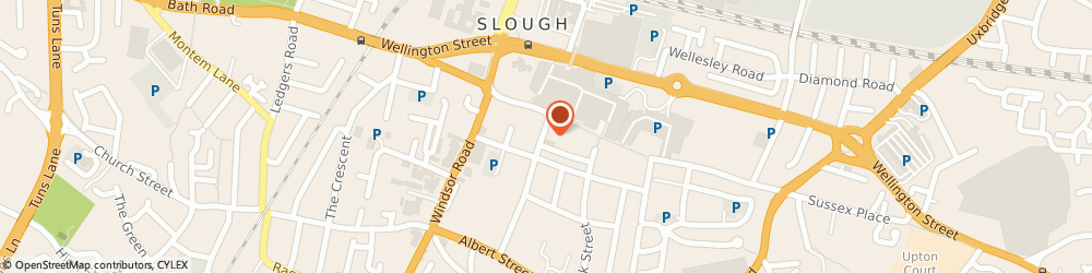 Route/map/directions to IMPEXEU LIMITED, SL1 1PQ Slough, 5 CHURCH STREET