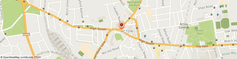 Route/map/directions to KFH, W3 6LP Acton, 145 High Street