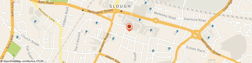Route/map/directions to Interpoint Radio Cars, SL1 1PH Slough, 2A Church Street