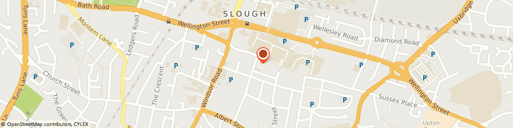 Route/map/directions to The Eye Centre Opthalmic Opticians, SL1 1PQ Slough, 1 Church Street