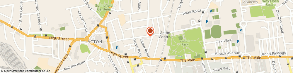 Route/map/directions to Margaret Price Designs, W3 6AY London, 45, CHURCHFIELD ROAD