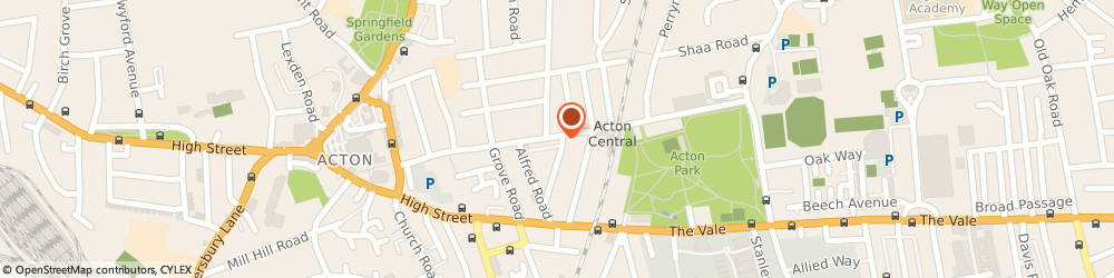 Route/map/directions to KOHLI SPORTS (UK) LTD, W3 6AY London, 33 Churchfield Rd, Acorn House