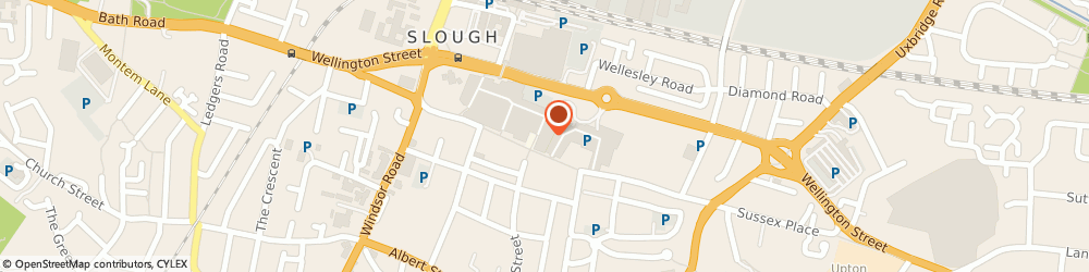 Route/map/directions to Slough Florists, SL1 1DB Slough, 90 Queensmere