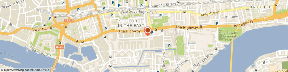 Route/map/directions to Connaught Chauffeurs, E1W 2BB London, 110 Pennington Street