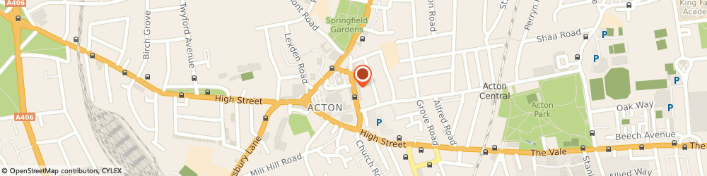 Route/map/directions to Horn Lane Dry Cleaners, W3 6PG London, 146 Horn Lane