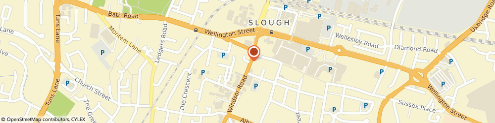 Route/map/directions to Trident Travel, SL1 2EJ Slough, 12-14 Windsor Road