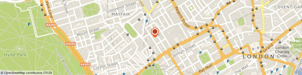 Route/map/directions to Wolf & Badger, W1S 4NE London, 32 Dover St