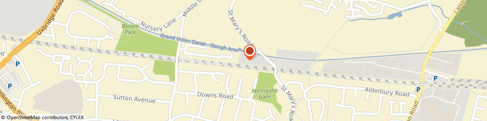 Route/map/directions to Alpha Kitchens & Bedrooms, SL3 6BZ Slough, St Mary's Rd, Unit 11, Chancerygate Business Centre