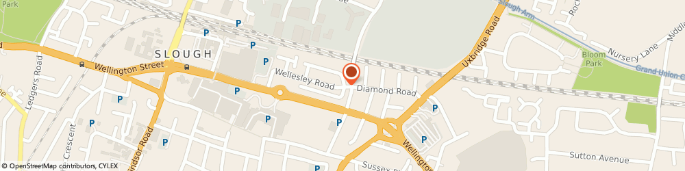 Route/map/directions to Fountain Cars Ltd, SL1 1XD Slough, 2 RICHMOND CRESCENT