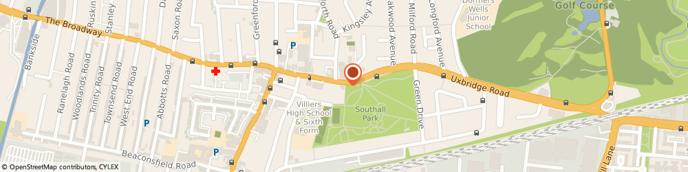 Route/map/directions to The Red Lion Hotel, UB1 3DN Southall, 100 High St