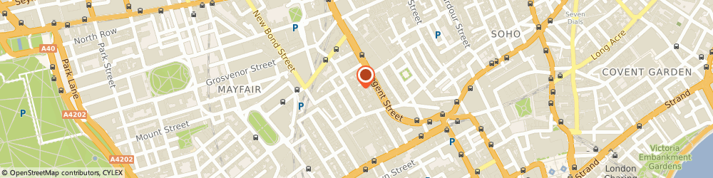 Route/map/directions to Stowers Bespoke, W1S 3NE London, 13 Savile Row