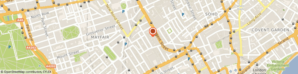 Route/map/directions to The Jaunty Flaneur, W1S 3NE London, 13 Savile Row