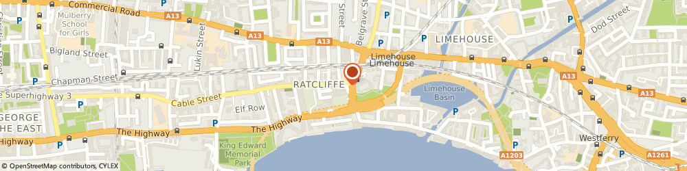 Route/map/directions to City Carriage Executive (London) Ltd, E1W 3HB London, 566 Cable St, Unit 204/206