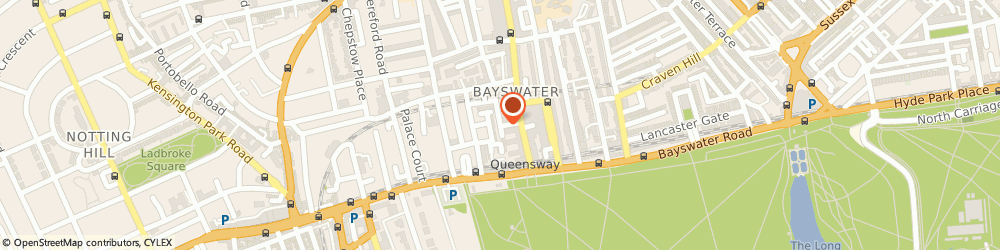 Route/map/directions to Berkeley Square Chauffeur Services, W2 4AS London, Poplar Place