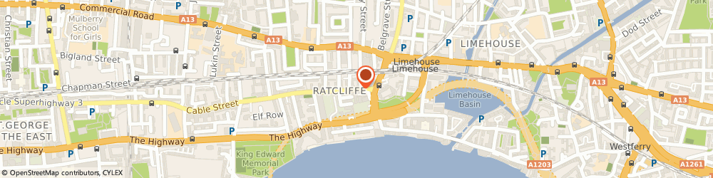 Route/map/directions to GRINGOS MOTORCYCLES LIMITED, E1W 3EP London, 571 Cable Street