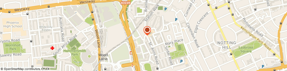Route/map/directions to Nathan Andrews Estates, W10 6SZ London, 5 Bramley Rd, Holland Park