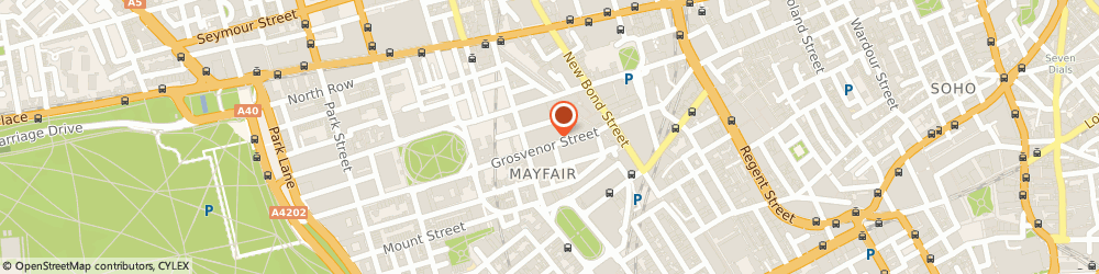 Route/map/directions to Savills (Uk) Limited, W1K 3HQ London, 20 Grosvenor Hill, Berkeley Sqaure