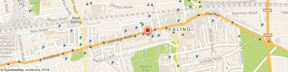 Route/map/directions to Expert Accounting & Finance, W5 5SL London, 71-75 Uxbridge Road, Aurora House