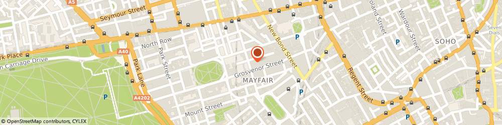 Route/map/directions to Solent Print Ltd, W1K 4ND London, 32 Davies St, Claridge House