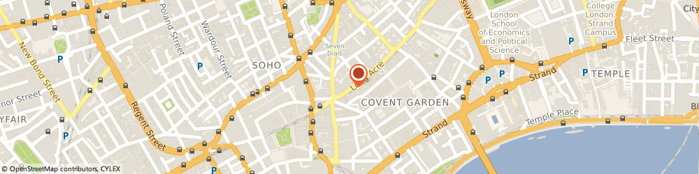 Route/map/directions to Just Accounting Media, WC2E 9DT London, 133 LONG ACRE
