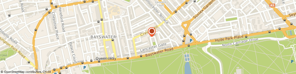 Route/map/directions to Tricky Toby, W2 3NA London, 44 Lancaster Gate