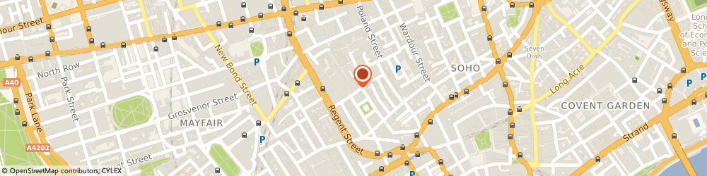 Route/map/directions to Rugby Scene, W1F 9PS London, 56-57, CARNABY STREET