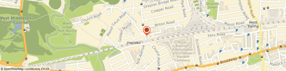 Route/map/directions to Shell, W7 1DR London, 6 Church Road